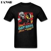 Über Größe Daft Bros Daft Punk Coole Shirts Männer Männlichen Weißen Kurzarm Benutzerdefinierte Männer T-shirts Familie Kleidung