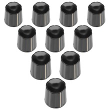 UXCELL 10Pcs 18x18mm Plastic Potentiometer Volume Control Rotary Knob K16-1 Black For Connect The Rotary Potentiometer Supplies bi 6187 181a r1k tapped conductive plastic potentiometer 4p
