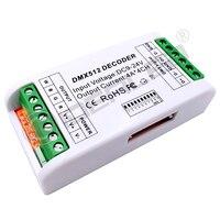 MINI 3 ערוץ DMX RGB מפענח 4 ערוץ DMX512 מפענח LED דימר נהג עבור DC12V 24V RGB RGBW led רצועת בקר-בבקרי RGB מתוך פנסים ותאורה באתר