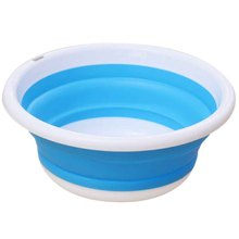 3 Colors Creative Plastic Wash Basin Foldable Portable Camping Fishing Car Washing Tool Kitchen Bathroom Accessories