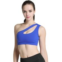 64837c3a28 LASPERAL 2017 Women s Sports Bra Sexy One Shoulder Hollow Solid Fitness Gym  Sport Tank Tops Workout Running Underwear Yoga Bras