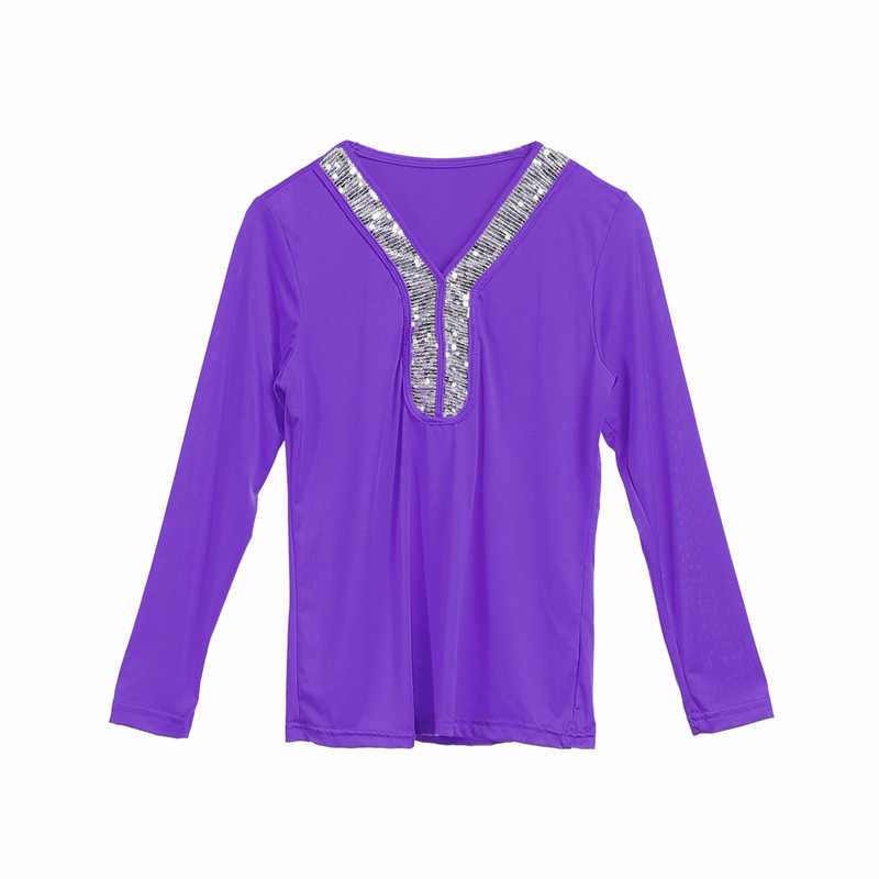 08b3d4a7073281 ... Plus Size S~5XL Sequined Women Shirts Tops Autumn Long Sleeve V Neck  Blouse Loose ...