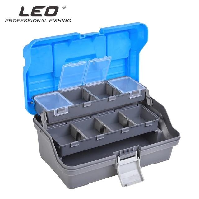 LEO carpe pêche leurre boîte à outils 27878 engins de pêche valise appât boîte Pesca multi-couche grand espace prendre en crochets broches morsure fils