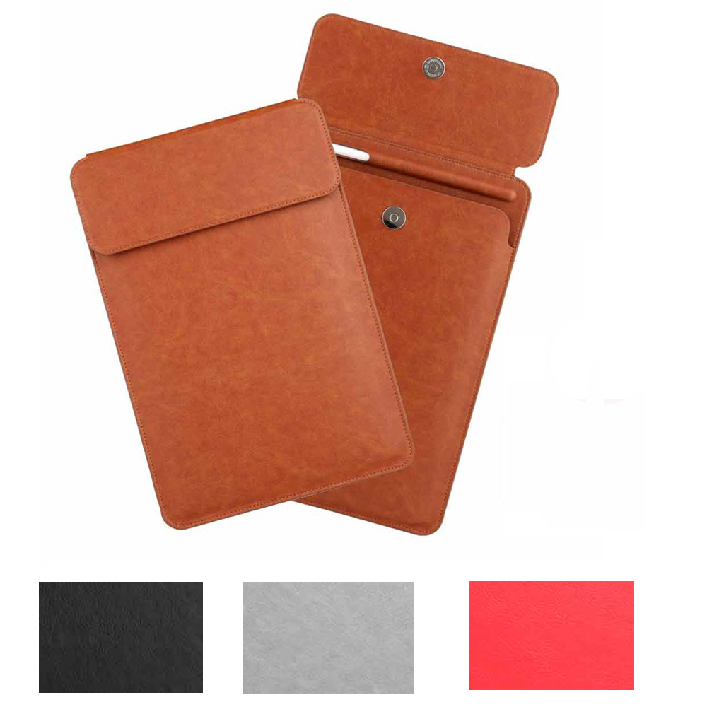 PU Leather Sleeve Case Cover Pouch For iPad Pro 10.5 2017 Sleeve Bag Pouch With Pencil Slot Holder Design For ipad 9.7 2017/2018 jisoncase genuine leather sleeve case for apple pencil holder cover pouch anti knock fixable pen bag for ipad pro 9 7 10 5 12 9