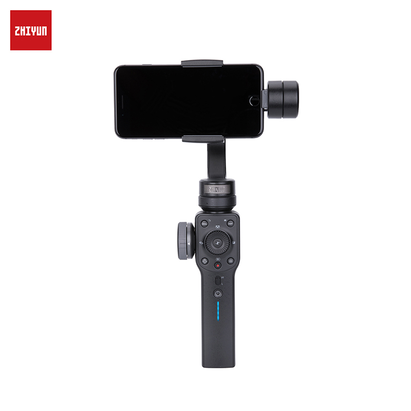 Handheld 3-Axis Stabilizer for Smartphone ZHIYUN Smooth 4 Smartphone Gimbal Stabilizer VS Smooth Q Model for iPhone X 8Plus 8 7 jj 1s 2 axis brushless handheld phone stabilizer 330 degree smartphone for gopro gimbal holder mount built in bluetooth