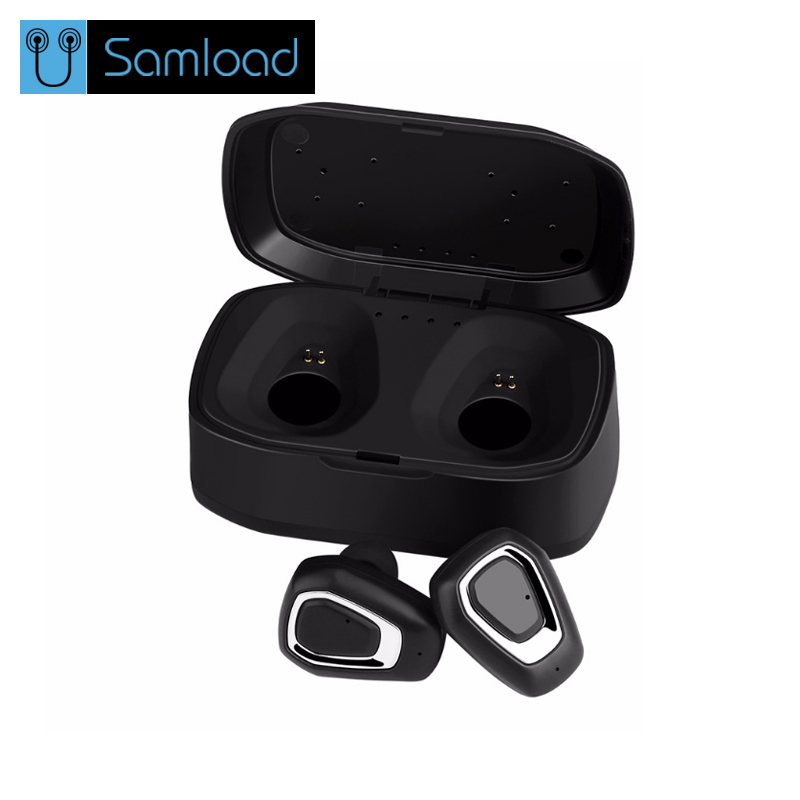 Samload TWS Bluetooth Earphone Earbuds Control Hifi Stereo Wireless Microphone For Phone With Charger Charging Box Mini new wireless car charger usb interface bluetooth stereo headset answer call for phone mini adapter bt 4 1 earphone auto charging