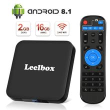 TV Box Android 8.1 - Leelbox Smart TV Box with Voice Remote Control, Amlogic S905W Quad-Core, 2GB RAM & 16GB ROM, 4K Ultra HD 1pcs free ship high hd csa90 2g 16g andriod 5 1 smart tv box remote control octa core rk3368 4k 2 0