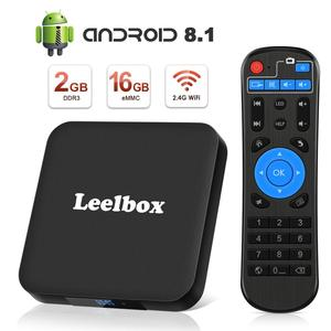 TV Box Android 8.1 - Leelbox Smart TV Box with Voice Remote Control, Amlogic S905W Quad-Core, 2GB RAM & 16GB ROM, 4K Ultra HD
