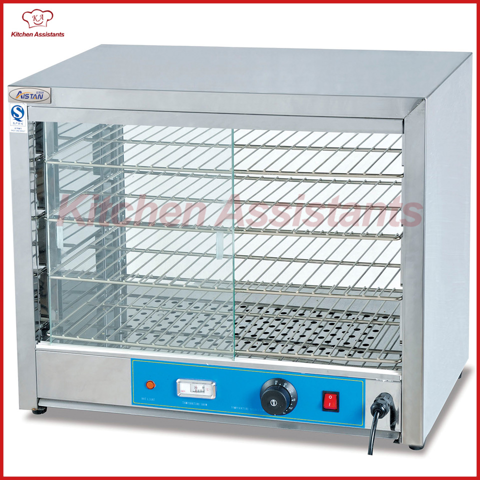 DH580 commercial electric counter top warmer glass display showcase