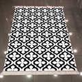 Autre noir blanc ethnique authentique damassé Design 3d impression microfibre anti-dérapant dos lavable décoratif Kilim zone tapis