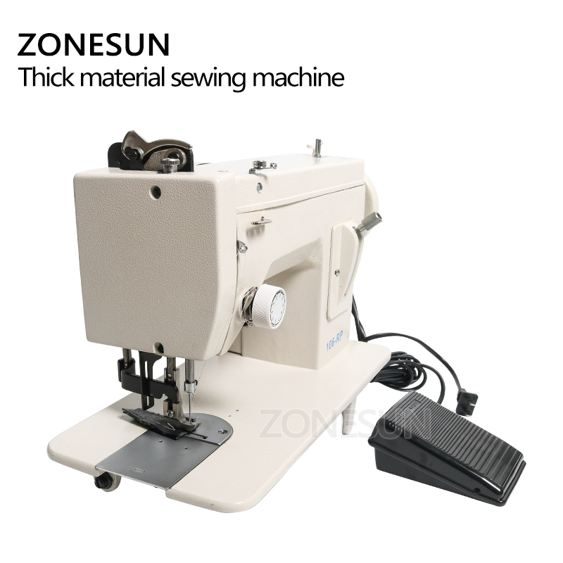 Image 4 - ZONESUN 106 RP straight Household Sewing Machine Fur Leather Fell Clothes Thick Sewing Tool Thick Fabric Material Stitching ToolFood Processors   -