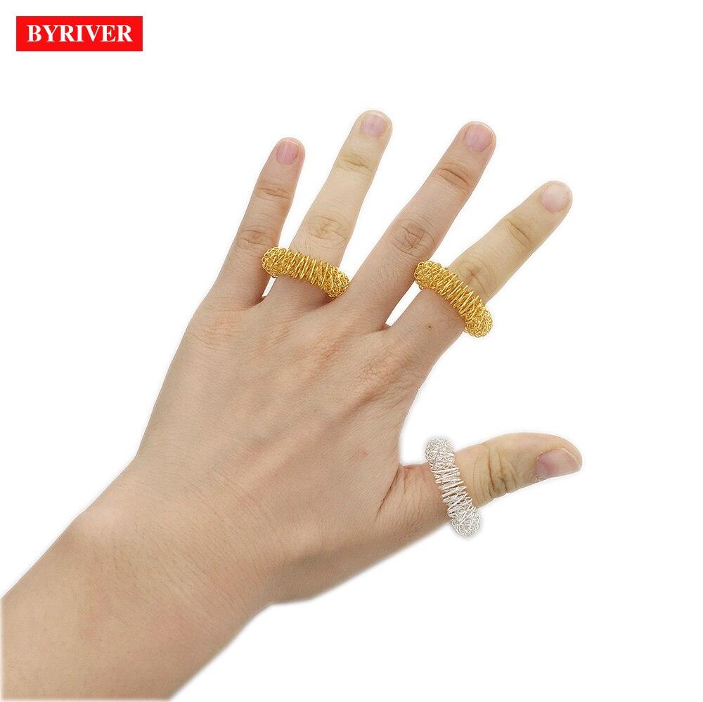 BYRIVER Finger Massage Ring Acupuncture Massage Roller Finger Rolling Massager Small Interesting Gift For Friends