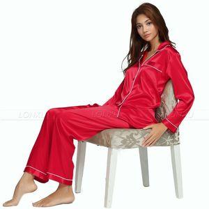 Image 5 - Nữ Lụa Satin Bộ Đồ Ngủ Pyjamas Bộ Đồ Ngủ Loungewear U. s. s6, M8, M10, L12, L14, L16, L18, L20 S ~ 3XL Plus Kích Thước