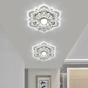 Image 2 - Led Gangpad Lichten Bloem Vormige Crystal Spots Downlighters Ingebed Plafond Creatieve Gang Woonkamer Slaapkamer