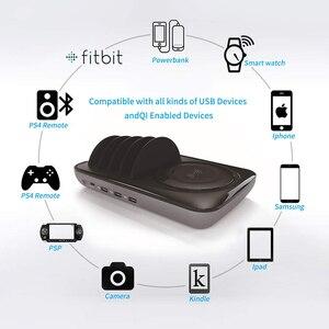 Image 4 - SooPii escritorio 4 puertos cargador estación soporte Universal con carga USB para el teléfono estación para iPhone Samsung iPad Tablet