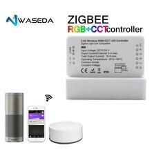 ZIGBEE мост светодио дный контроллер RGBW/КТ/RGB + CCT DC12/24 В Zigbee светодио дный контроллер ZLL контроллер совместим с оттенком Lightfy эхо