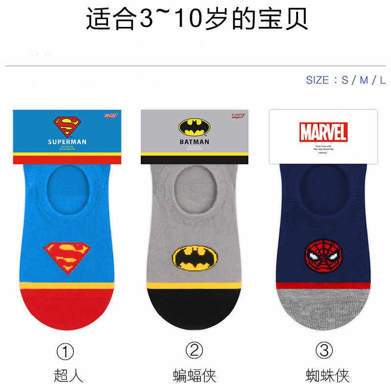 6648c27412c1 Avengers DC Spiderman cosplay kid socks Superman Batman funny Cartoon sock  Spring summer Comfortable Breathable children