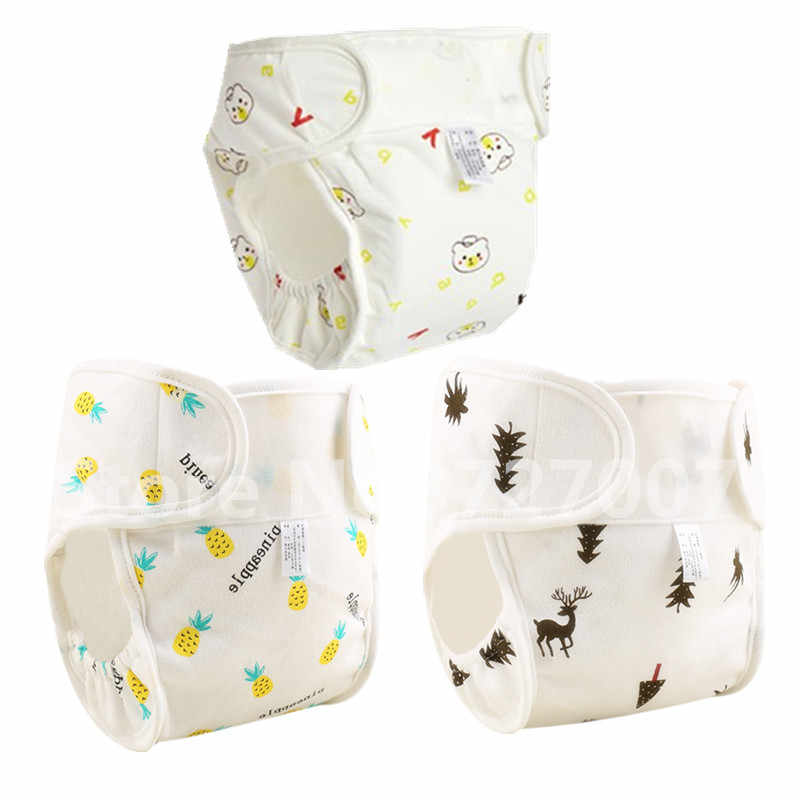 Cartoon Washable Baby Cloth Diaper Pocket Waterproof Cotton Baby Diapers Reusable Cloth Diaper Nappies Cover For Newborn