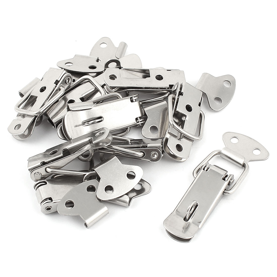 UXCELL 10 Pcs Steel Spring Draw Toggle Latch Catch For Cases Boxes Chests