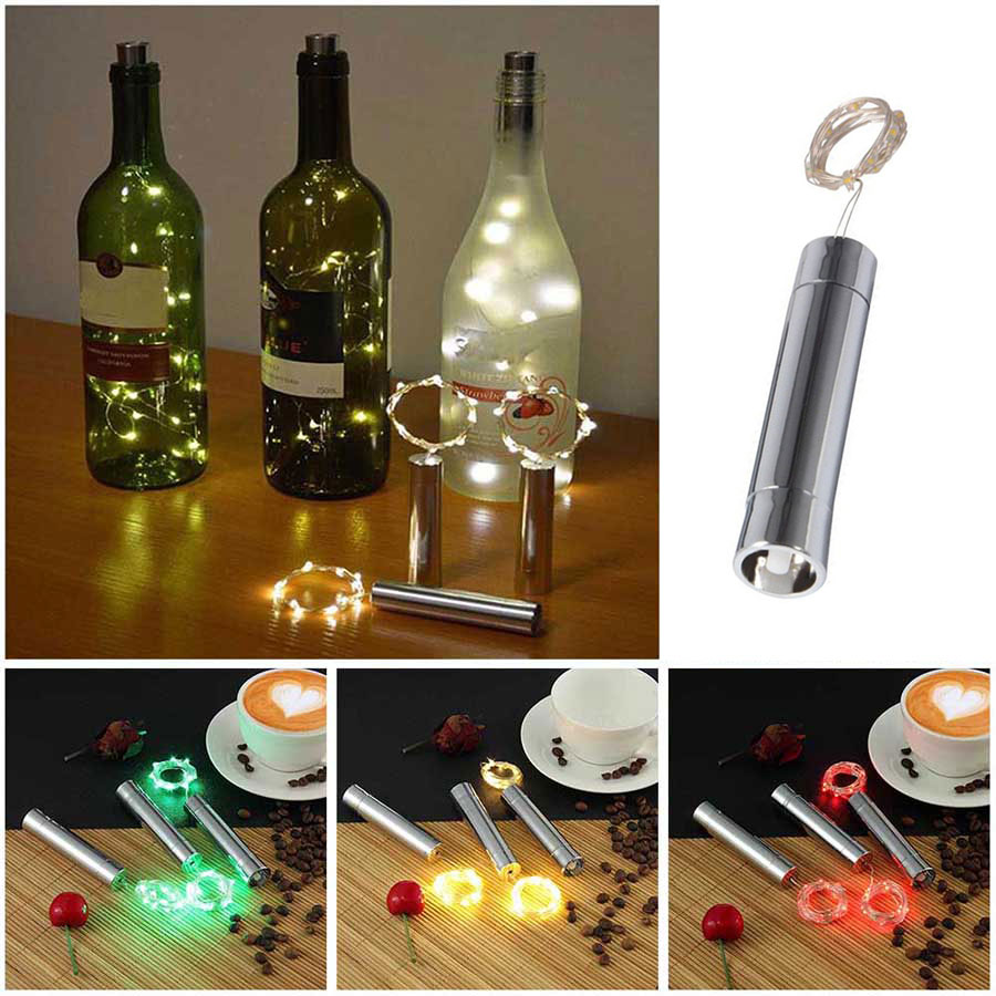 LED Wine Bottle String Light Battery Power DIY Christmas ...