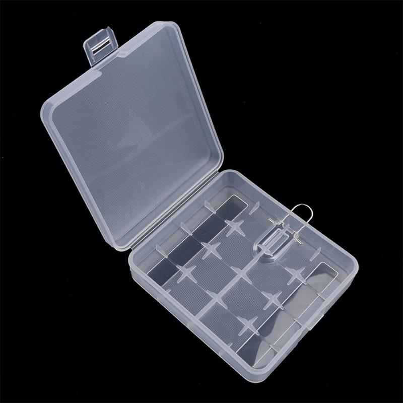 4 X 18650 Battery Box Four Quarters Transparent Container