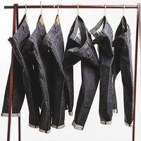 MADEN мужские джинсы 15 унций с необработанными краями, прямые джинсы