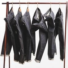MADEN homme 15oz brut lisière jean Denim coupe droite régulière Style japonais jean non lavé