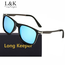 Long Keeper Men Polarized Sunglasses High Quality Aluminum Alloy Frame Male Driving Goggles Eyewear UV400 With BOX Free Shipping