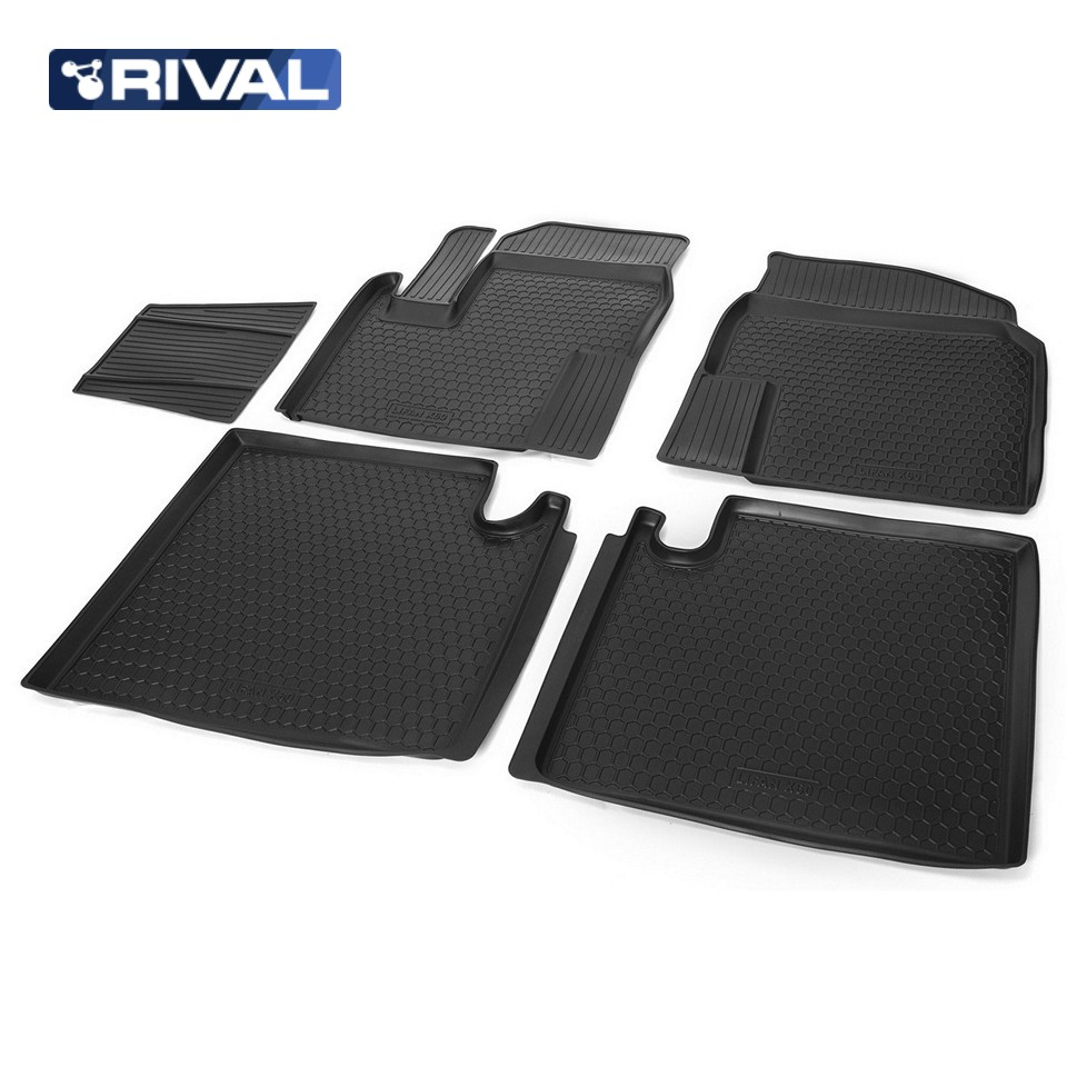 For Lifan X60 2013-2019 floor mats into saloon 5 pcs/set Rival 13301001 for geely emgrand x7 2013 2019 floor mats into saloon 5 pcs set rival 11902001