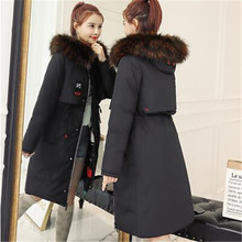 New Warm Hooded Plus Size Long Down Women Both Side Winter Coat Jacket 2018 Clothing For Mujer Overcoat Slim Solid Jacket