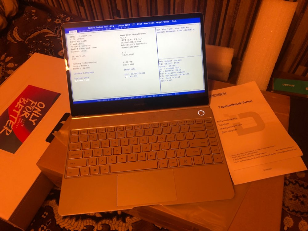 "Ультратонкий ноутбук Maibenben Jinmai 6 13.3"" IPS FHD / Intel N4000 / 8ГБ / 240ГБ SSD / Intel 600 / NoODD / DOS"