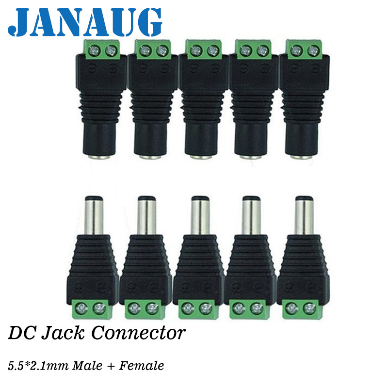 5 Male + 5 Female DC Connector Plug, 12V 5.5x2.5mm dc connector Barrel Power Jack for CCTV Security Camera, LED Strips5 Male + 5 Female DC Connector Plug, 12V 5.5x2.5mm dc connector Barrel Power Jack for CCTV Security Camera, LED Strips