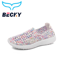 2018 New Arrive Women trainers Breathable Cool Braided Walking Shoes Lightweight Comfortable Footwear Female Size 35-40 Sneakers