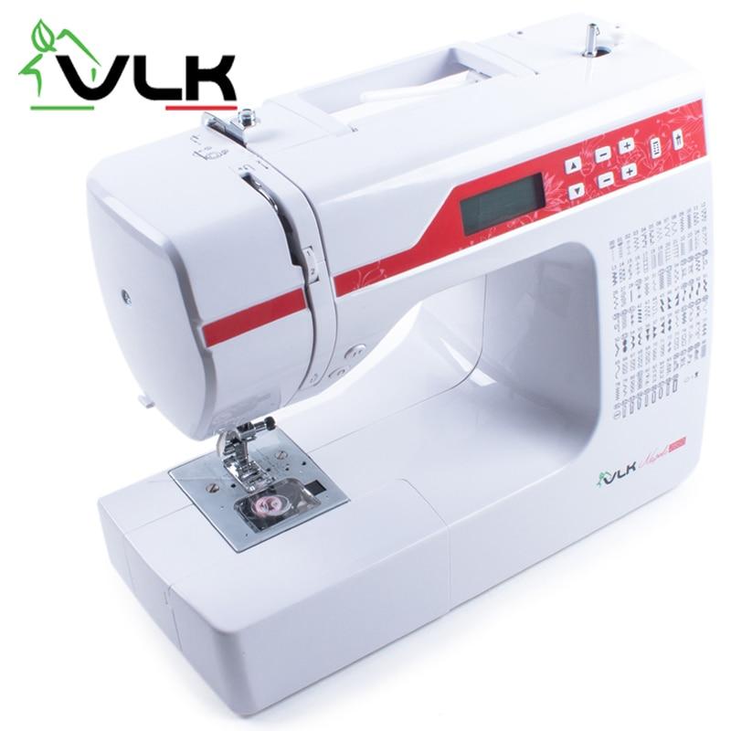 Sewing machine VLK Napoli 2850 sewing thread embroidered tartan newsboy cap