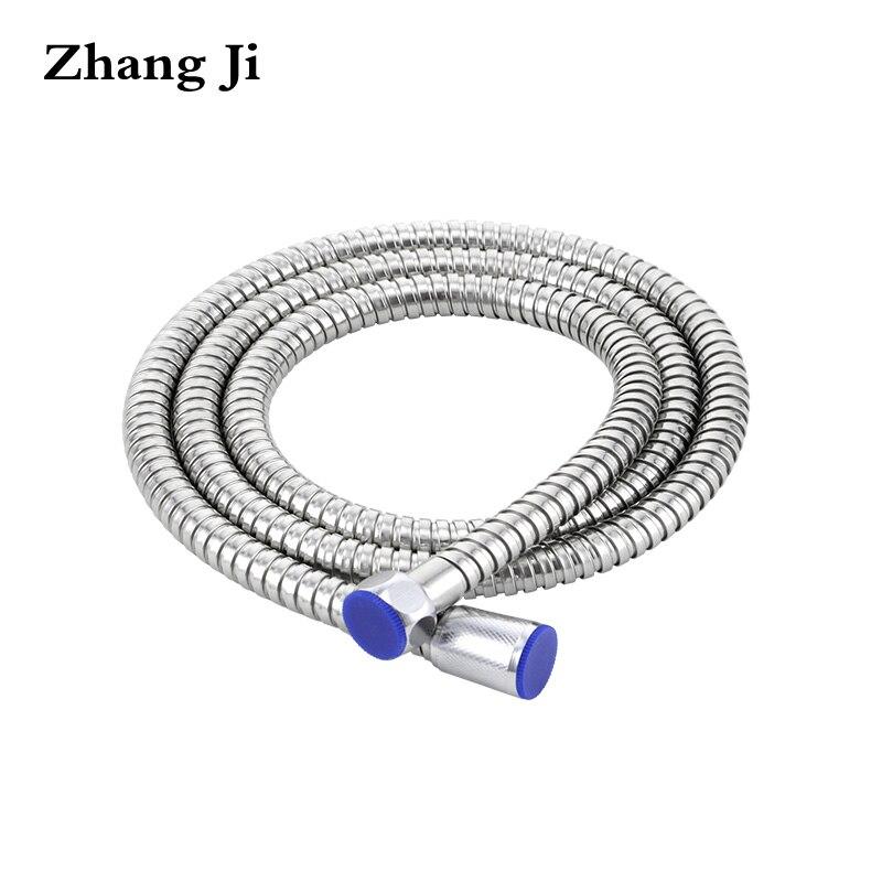ZhangJi 1.5 m Tubo Idraulico soffione doccia In Acciaio Inox Soffione doccia Tubo di Accessorio per il Bagno di Ricambio Tubo di Acqua Flessibile