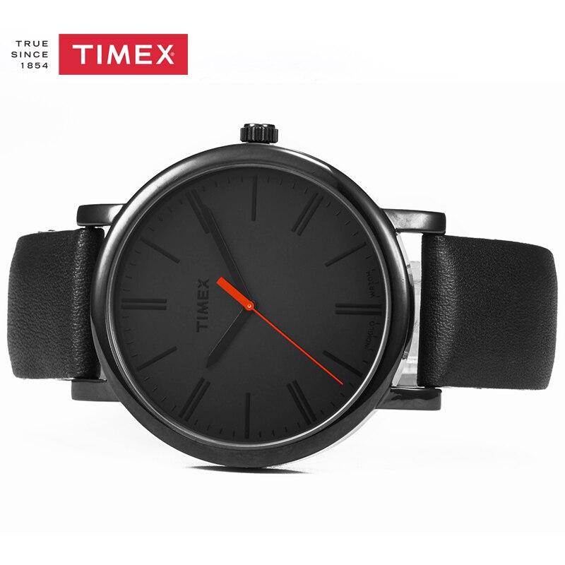 3bc97c726a742 Timex Mne Watch Easy Reader Black Leather Strap Quartz Mens Watch T2N794  Luminous Unisex Watches-in Quartz Watches from Watches on Aliexpress.com