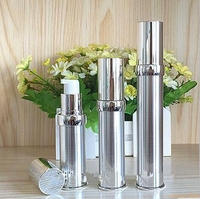 15ml 20ml 30ml Gold Silver Empty Airless Pump Container Travel Metal Essential Lotion Cream Cosmetic Bottle With Pump#213