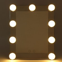 Buy makeup mirror light bulbs and get free shipping on aliexpress table standing desktop vanity mirror with bulbs lamp adjustable large lighted led aloadofball Image collections