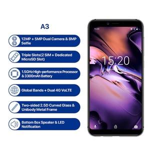 Image 2 - UMIDIGI A3 Smartphone Global double 4G Sim 5.5 pouces 18:9 plein écran téléphone Mobile Android 8.1 2 + 16G visage empreinte digitale téléphones portables
