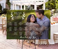 Please Find Your Seat,Rustic Custom Photo Seating Chart Plan,Wedding Seating Table Assignment Wooden Personalized Guests List