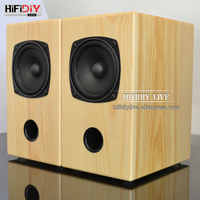 HIFIDIY LIVE 3 inch wood 15W*2 Passive 2.0 speakers HIFI Home/OFFICE desktop stereo audio Computer notebook speaker sound box A3