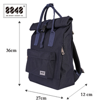 New Girls Canvas Backpack Women Laptop Double Zipper Large Capacity School Bags for teens 030-041-008