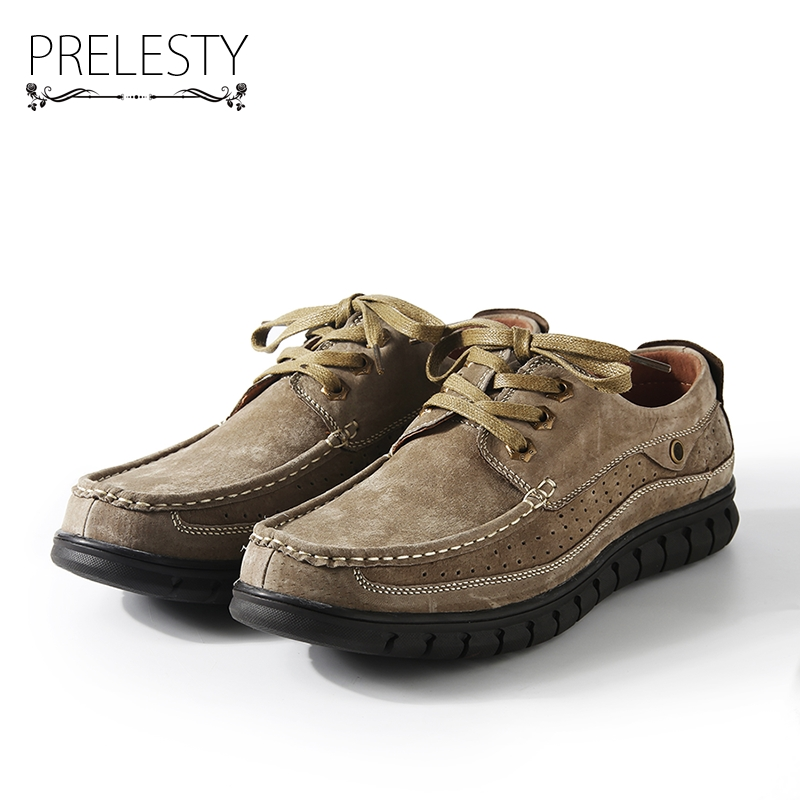 Prelesty Steampunk Style Brand Men Platform Casual Shoes Winter Handmade   Suede     Leather   High Quality Zapatos Hombres
