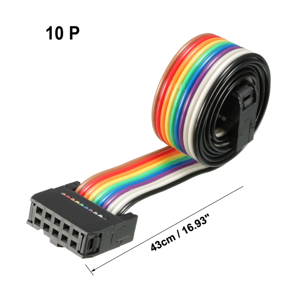 uxcell IDC 26 Pins Wire Flat Rainbow Ribbon Cable 66cm 2.54mm Pitch 1pcs