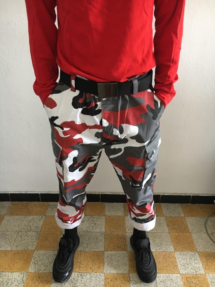 GONTHWID Color Camo Cargo Pants 2017 Mens Fashion Baggy Tactical Trouser Hip Hop Casual Cotton Multi Pockets Pants Streetwear