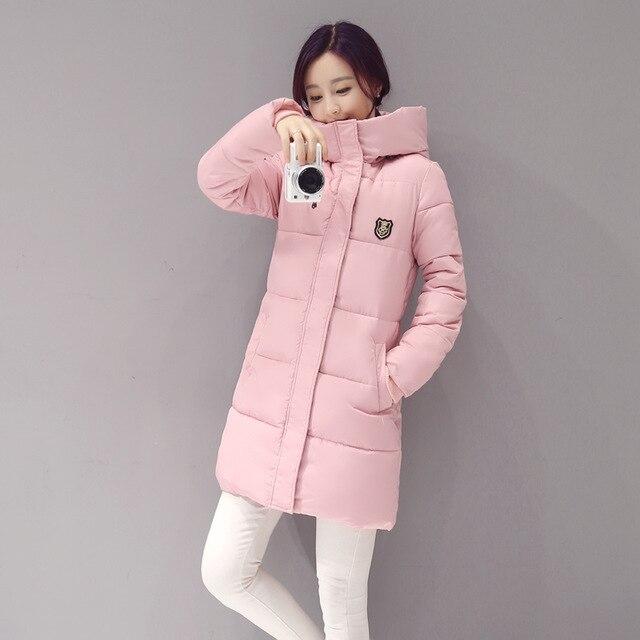 New Arrival Casual Warm Long Sleeve Ladies Basic Coat Jacket Women   Parkas   Cotton Women Winter Jacket