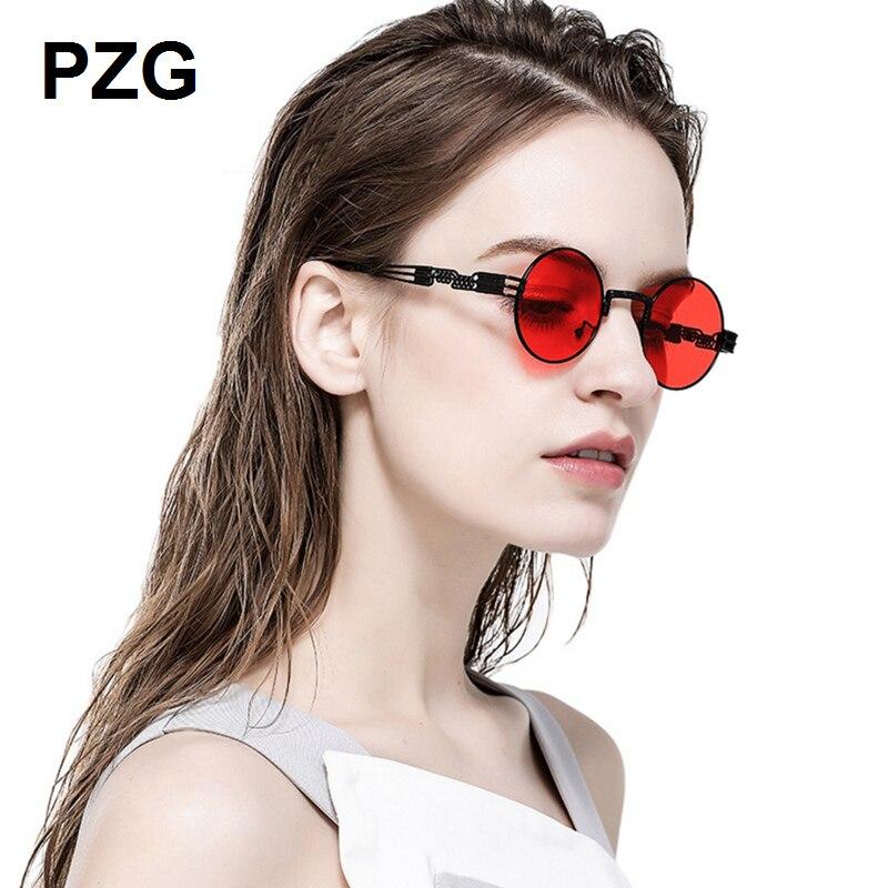 PZG mewah merek Punk Kacamata 2018 baru pria womens kacamata Paduan - Aksesori pakaian - Foto 2