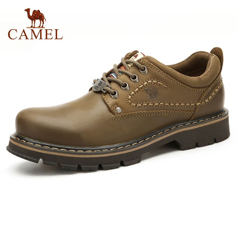 CHAMEAU Véritable Mode En Cuir Homme Chaussures Casual résistant à l'usure En Cuir Anti-dérapage À Coudre Ligne Outillage Chaussures Chaussures