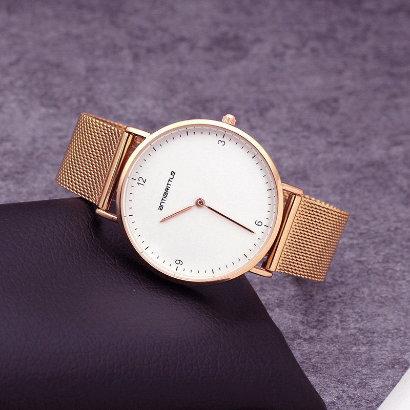 Quartz Luxe Rose Gold Horloges Dames Ultradun roestvrij staal magneet - Dameshorloges