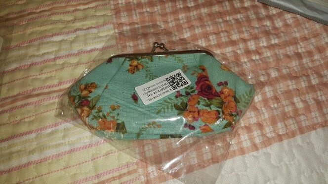Aelicy nieuwe dames portefeuilles en portemonnees kleine dame retro vintage bloem portemonnees meisje canvas hasp portemonnees sleutelpakket photo review